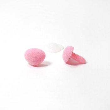 Носик винтовой бархатный 16х13мм треугольный розовый