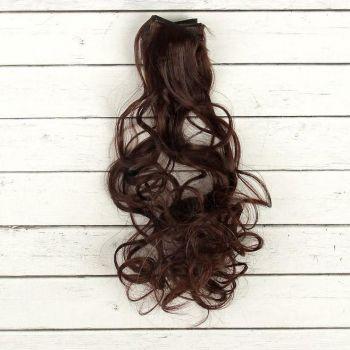 Волосы-кудри, трессы д-40см ш-50см (каштановые)