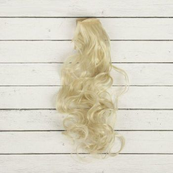 Волосы-кудри, трессы д-40см ш-50см (блонд)