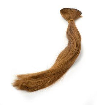 Волосы-прямые, трессы д-30см ш-50см (т. русый) -2 шт.