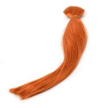 Волосы-прямые, трессы д-30см ш-50см (рыжий) -2 шт.