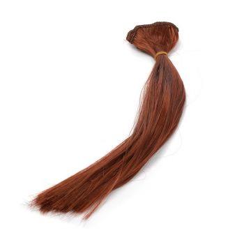 Волосы-прямые, трессы д-30см ш-45см (каштан) -2 шт.