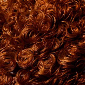 Волосы-кудри d-2см (медный)