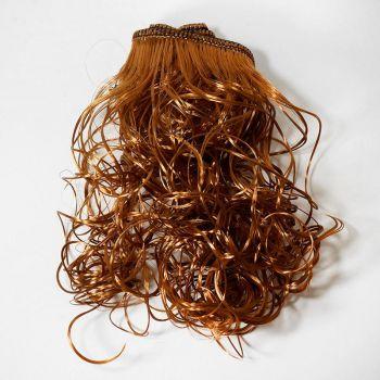 Волосы-кудри трессы h25-28см, L47-50см (карамельный)