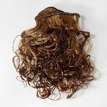 Волосы-кудри трессы h25-28см, L47-50см (лесной орех)