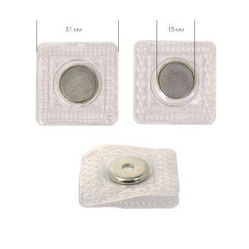 Кнопка магнитная 15 мм (никель)