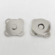 Кнопка 18 мм магнитная пришивная (никель)