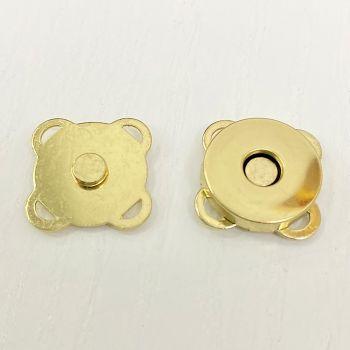 Кнопка 18 мм магнитная пришивная (золото)
