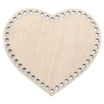 Дно для сумки сердце 21 см.