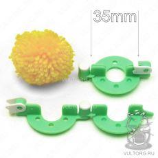 Изготовление помпонов 35 мм