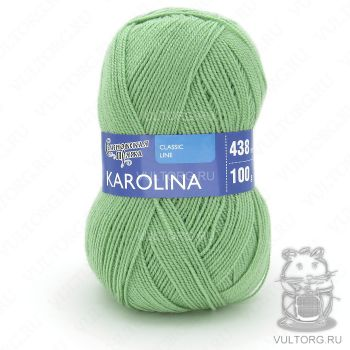 Каролина, Семеновская пряжа, цвет № 122 (Зеленое яблоко)