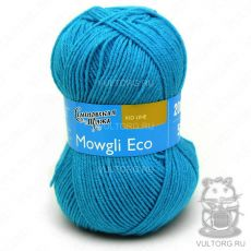 Маугли Эко, Семеновская пряжа, цвет № 211 (Темная бирюза)