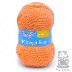 Маугли Эко, Семеновская пряжа, цвет № 655 (Ярко-оранжевый)