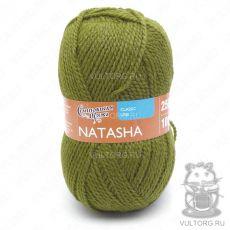 Наташа ПШ, Семеновская пряжа, цвет № 1437 (Зеленый янтарь)