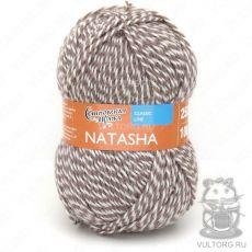 Наташа ПШ, Семеновская пряжа, цвет № 12458 (Речной жемчуг и какао)