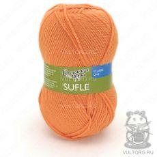 Суфле, Семеновская пряжа, цвет № 10744 (Ярко-оранжевый new)