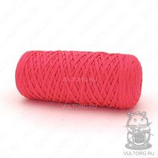 Шнур полиэфирный 5 мм, цвет № 102 (Красный)