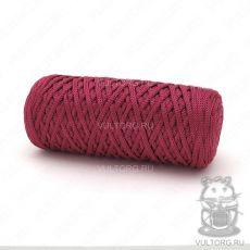 Шнур полиэфирный 5 мм, цвет № 104 (Бордовый)
