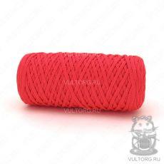 Шнур полиэфирный 5 мм, цвет № 1112 (Красный люкс)