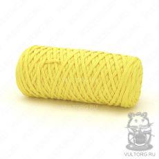 Шнур полиэфирный 5 мм, цвет № 1303 (Желтый)