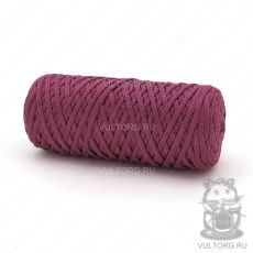 Шнур полиэфирный 5 мм, цвет № 1601 (Слива)
