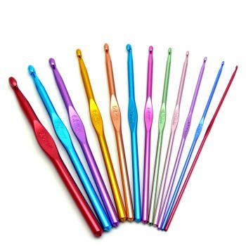 Набор крючков для вязания алюминиевых 12 шт. (2.0 - 8.0)