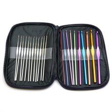 Набор крючков 22 шт. для вязания в футляре