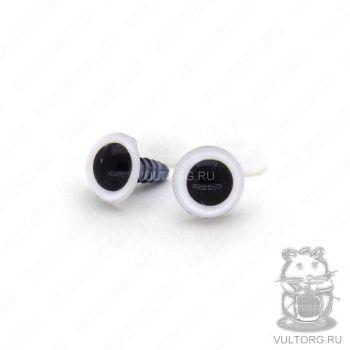 Глазки винтовые 14 мм (белые)