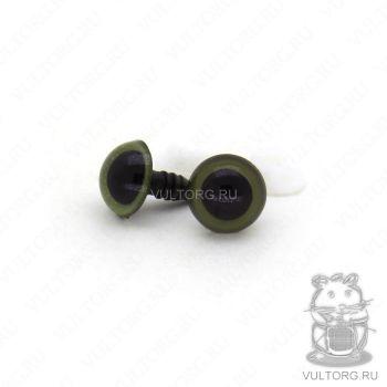 Глазки винтовые 10 мм (хаки)