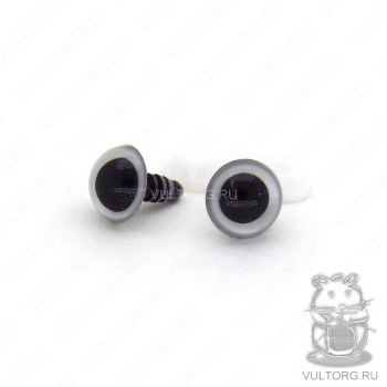 Глазки винтовые 10 мм (серые)