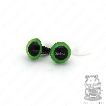 Глазки винтовые 12 мм (зеленые)