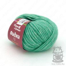 Пряжа из Троицка Фиджи, цвет № 8358 (Зелёная бирюза меланж)