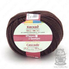 Пряжа Каскад из Троицка, цвет № 0412 (Шоколад)