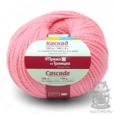 Пряжа Каскад из Троицка, цвет № 0160 (Розовый)