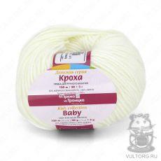 Пряжа Кроха из Троицка, цвет № 0235 (Супер белый)
