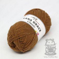 Пряжа из Троицка Лана Грейс Классик, цвет № 0606 (Темно-бежевый)
