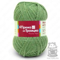 Пряжа Меланж из Троицка, цвет № 1775 (Зеленый)
