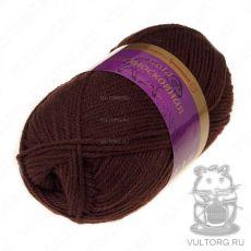 Пряжа из Троицка Подмосковная Голд, цвет № 0412 (Шоколад)
