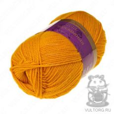 Пряжа из Троицка Подмосковная Голд, цвет № 0698 (Шафран)