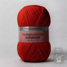 Пряжа из Троицка Подмосковная Суперфайн, цвет № 0042 (Красный)