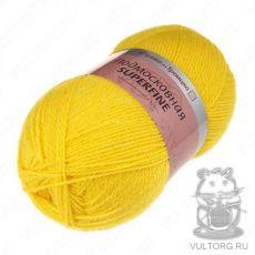 Пряжа из Троицка Подмосковная Суперфайн, цвет № 0123 (Холодный желтый)