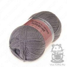 Пряжа из Троицка Подмосковная Суперфайн, цвет № 0439 (Серый)