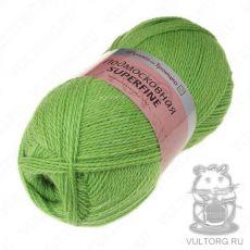 Пряжа из Троицка Подмосковная Суперфайн, цвет № 3298 (Яркий салат)