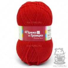 Пряжа Подмосковная из Троицка, цвет № 0042 (Красный)