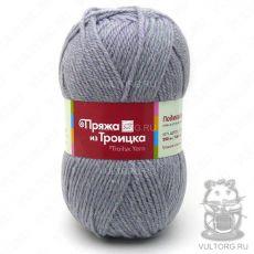 Пряжа Подмосковная из Троицка, цвет № 6032 (Серый меланж)