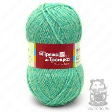 Пряжа Подмосковная из Троицка, цвет № 6033 (Салатовый меланж)