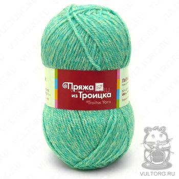 Пряжа из Троицка Подмосковная, цвет № 6033 (Салатовый меланж)