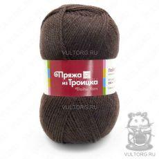 Пряжа Подмосковная из Троицка, цвет № 0412 (Шоколад)