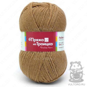Пряжа Подмосковная из Троицка, цвет № 0606 (Темно-бежевый)
