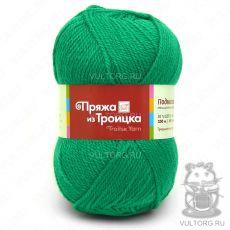 Пряжа Подмосковная из Троицка, цвет № 0753 (Зеленая бирюза)